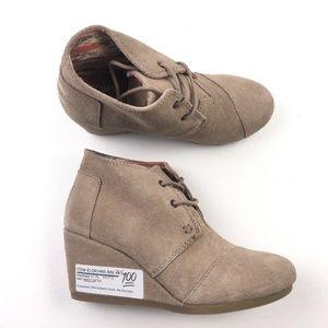 TOMS Womens Desert Wedge Boots DRA01485